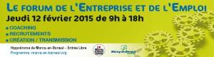 bannière forum de l'entreprise et de l'emploi 2015